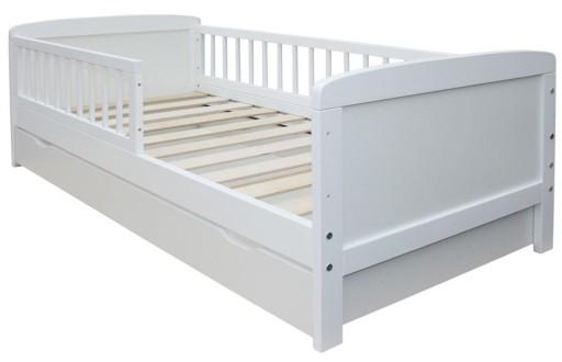 Łóżko 160x70 SZUFLADA 2w1 opcja TAPCZANIK białe