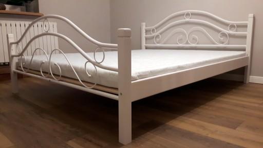 Nowość łóżko Metalowe 140x200 Białe I Czarne