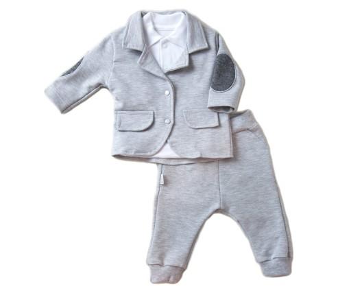 1a39e2697eb83 GARNITUR niemowlęcy MARYNARKA + spodnie CHRZEST 68 7282535371 ...