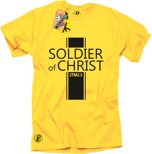 c5e7549da8 E-RELIGIJNE - KOSZULKA - Soldier of Christ - r.M 7449383609 - Allegro.pl -  Więcej niż aukcje.