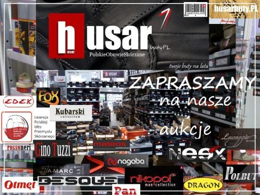 HUSAR eleganckie skóra PL1577 NIKOPOL czarne 42 6971624541