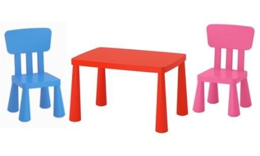Ikea Stolik Dla Dziecka Mammut I 2 Krzesła Mammut