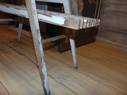 Stary kwietnik,drewniany dł.79,3,szer.26,5,wys.42