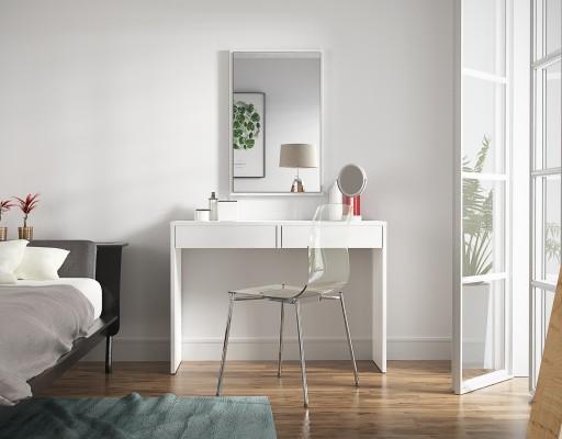 Toaletka Kosmetyczna Astral Biała Z Lustrem