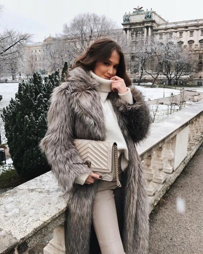 Luksusowy Futrzany Płaszcz Zara Studio Exclusive M