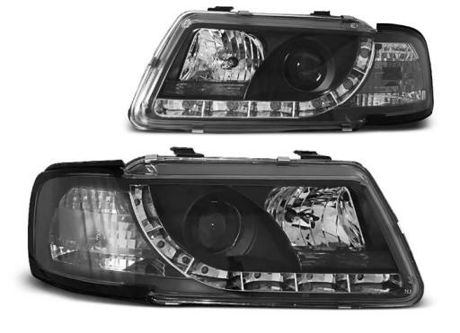 LAMPY przód REFLEKTORY AUDI A3 8L 96 00 LED BLACK