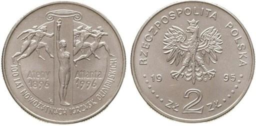 2 zł -1995- 100 lat Nowożytnych Igrzysk - kup!!!