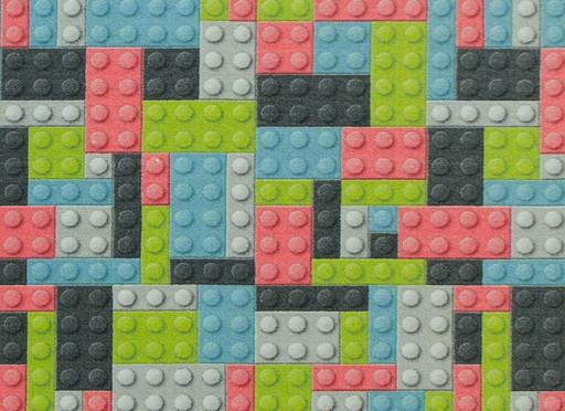 200x250 Cm Kolorowy Dywan Dla Dzieci Klocki Lego