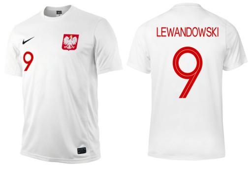 097230bf4a7f KOSZULKA NIKE POLSKA LEWANDOWSKI PREZENT L 6178293088 - Allegro.pl