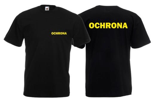 Koszulka męska OCHRONA roz S 7971517986 Odzież Męska T-shirty ZI XQEIZI-2