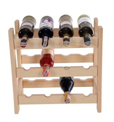 Regał Stojak Na Wino 12 Butelek Producent 6898809466 Allegropl