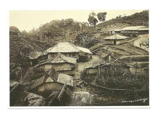 Poczt. - Tradycyjna indonezyjska wioska, Jawa 1910