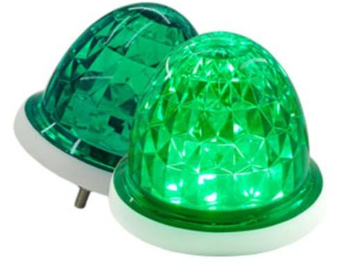 Lampa LED ostrzegawcza zielona kogut 12V 24V