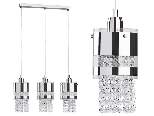 Lampa Wiszącażyrandol Kryształki 312l 6921308781 Allegropl