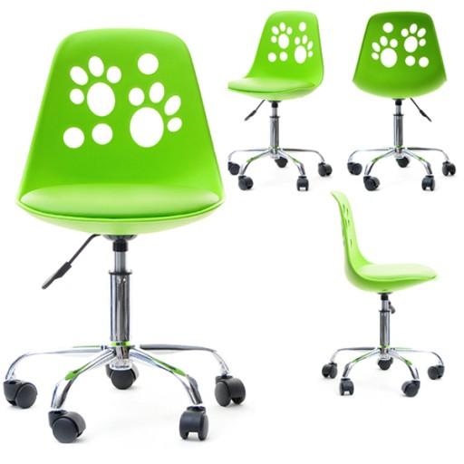 Regulowane Krzesło Obrotowe Do Biurka Foot Zielone