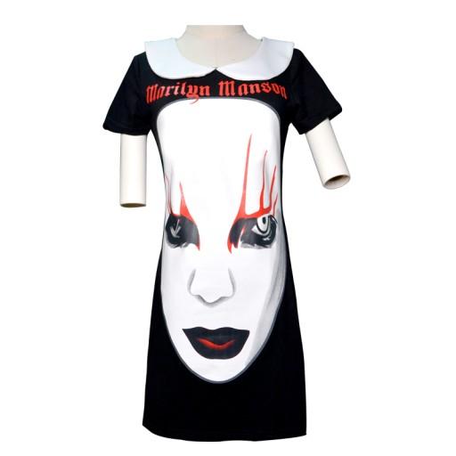 bb2f3e746549ab Sukienka tunika Marilyn Manson jak killstar 7719760053 - Allegro.pl