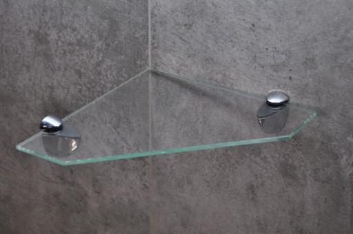 30x30 Półka Szklana Półki Szklane Narożne 3 Kolory
