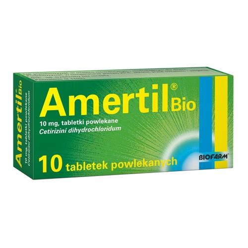 Amertil Bio alergia uczulenie pyłki 10 tabl.
