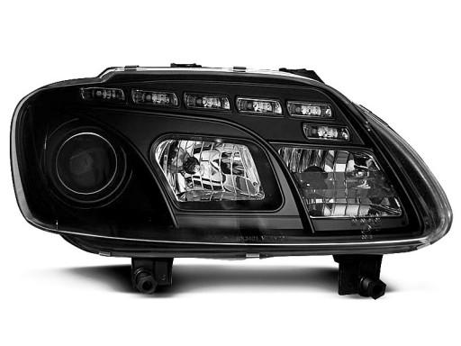 Lampy przód VW TOURAN 03 06 BLACK LED diodowe nowe