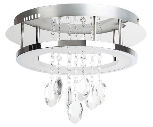 NOWOCZESNA LED LAMPA SUFITOWA Z KRYSZTAŁKAMI 2501