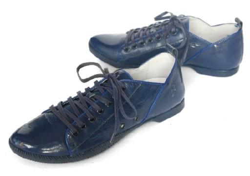 FLY LONDON  _ casual sneakers skóra lakier GRANAT