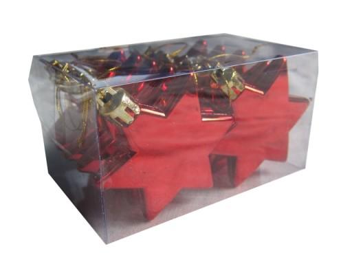 Bombki Nietłukące Czerwone 6cm Gwiazdki 10szt 7020829964 Allegro