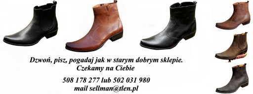KOWBOJKI STYLOWE RASOWA SKÓRA KLASYK CHOPPER 40-45 7691702296