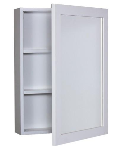 Szafka łazienkowa Biała Wisząca Z Lustrem 70x50