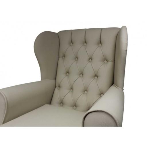 Fotel gabinetowy uszak pikowany ekoskóra Zara 7702848389 - Allegro.pl bcd84123e9