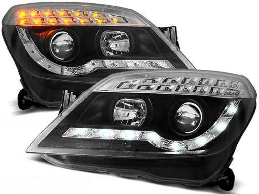 Lampy Przód Opel Astra H 04 Black Led Diodowe