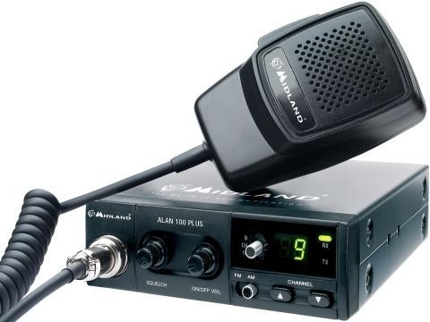 RADIO CB MIDLAND ALAN 100 PLUS AM FM SQ + wtyk