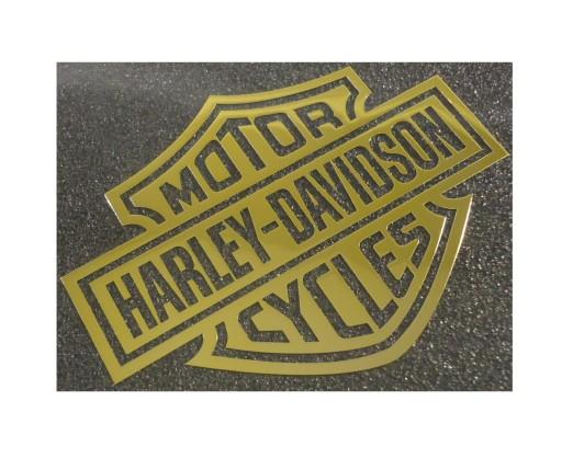 221b MOTOR HARLEY-DAVIDSON CYCLES GOLD 30x23 mm