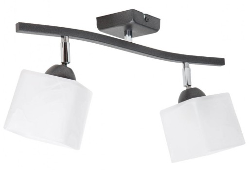 Lampa Sufit Wisząca Plafon Żyrandol Szklane Klosze