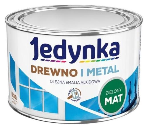 Farba Do Drewna I Metalu Matowa Zielona 0 36 L 6705546049