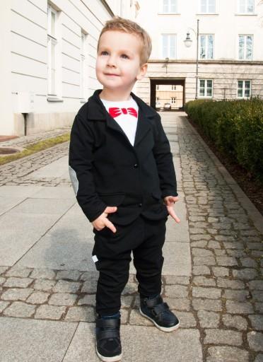 c90d95270030e GARNITUR niemowlęcy MARYNARKA + spodnie CHRZEST 68 Marka Inna marka