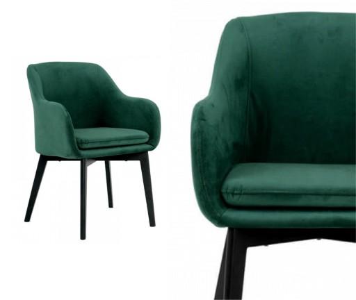 krzes�o fotel ivo tapicerowane zielony aksamit 7291215062