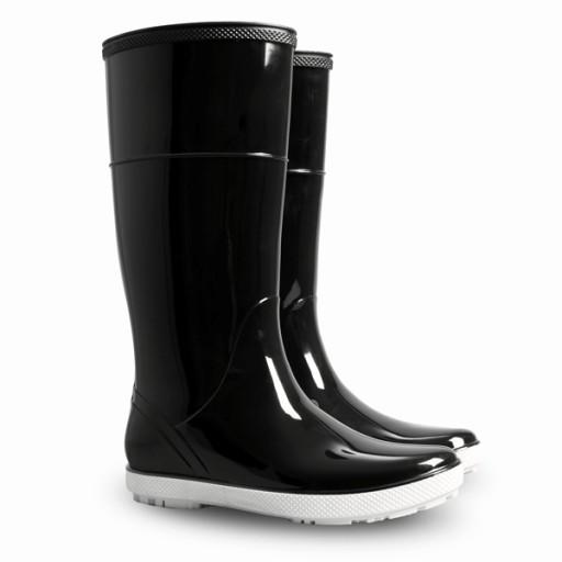 Stylowe czarne kalosze na deszczowe dni Damskie 38