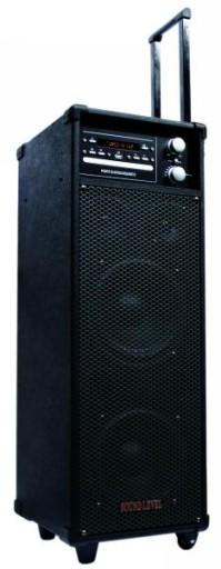 Mobilny Zestaw z Mikrofonami mp3 Akumulator DVD