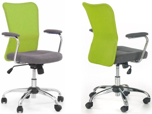 Krzesło biurowe dziecięce Andy zielone Halmar 24H