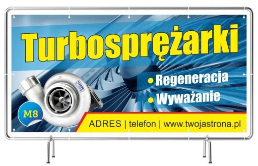 Solidny Baner reklamowy 3x1 Turbosprężarki Reklama