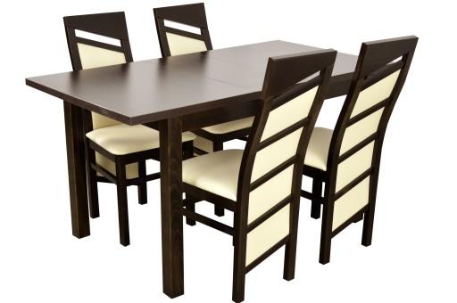Stół I 4 Krzesła Solidne Meble Do Salonu Jadalni 6924078299 Allegropl