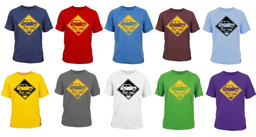 koszulka t-shirt fiat 126p maluch maluszek (S) 10700623258 Odzież Męska T-shirty TI ELGNTI-6