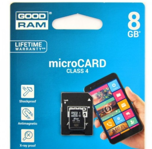 KARTA GOODRAM 8GB CLASS 4 MICRO SD + AD