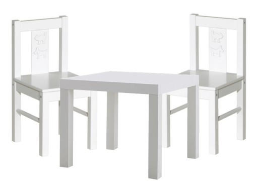 2 Kritter 2x Krzesełko Stolik Kolory Mammut Ikea