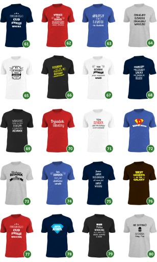 koszulka dumny ze swojego wnuka IMIĘ dziecka wzory 7653363680 Odzież Męska T-shirty QT ALCLQT-3