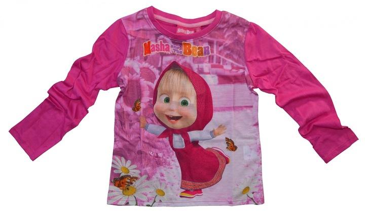 Bluzka Masza i Niedźwiedź 128 bluzeczka 8868631307 Dziecięce Odzież YZ HMDLYZ-5