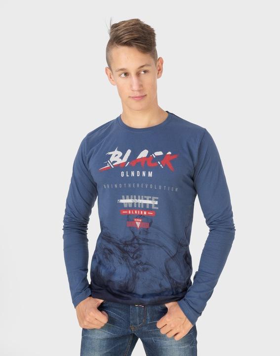 Koszulka Męska z Długim Rękawem Long 1003-01 r XL 7546100415 Odzież Męska Koszulki z długim rękawem XG DLVNXG-5