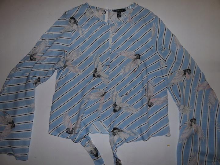 New Look Śliczna Bluzka w Bociany roz 38 9709324670 Odzież Damska Bluzki XP CTCEXP-8