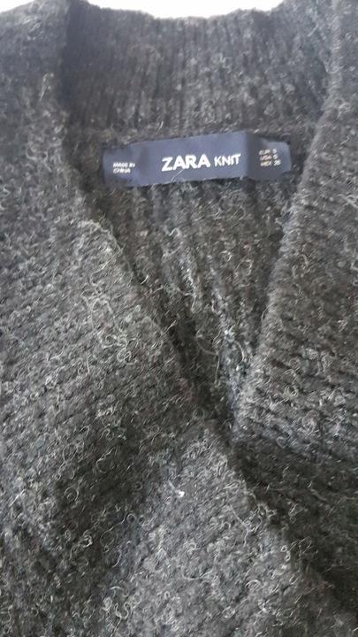 ZARA KNIT sweter CIEMNO SZARY oversize S 8644551005 Odzież Damska Swetry QV RMVVQV-2