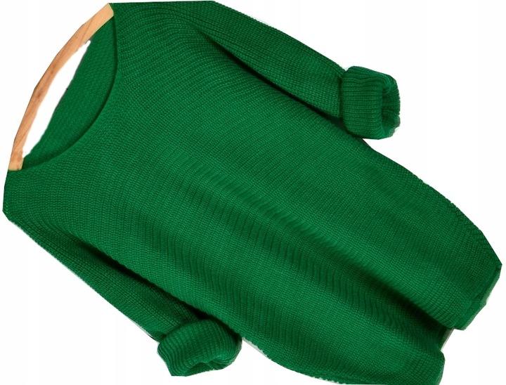 105z LUŹNY MIĘCIUTKI SWETER ODKRYTE RAMIĘ OVERSIZE 7711461987 Odzież Damska Swetry MD QIGWMD-3